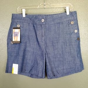 NWT The Limited Chambray tailored short (625)